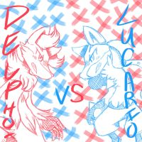 Delphox VS. Lucario by RichHoboM3