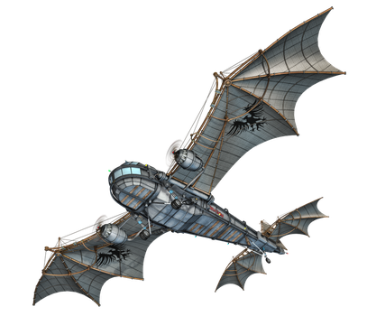 Steam Dragon 03 PNG Stock by Roy3D