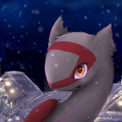 [Commission] Latias's First Snow by Lekisceon