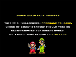 Super Mario Bros: Odyssey - Disclaimer screen by smbmaster99