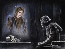 Commissioned Painting - Kylo Ren-Anakin Skywalker by AnimaEterna