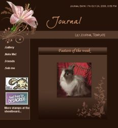Lily Journal Template by Sliding-Panda