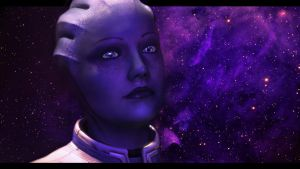Mass Effect 3 Liara Tears by AgataFoxxx