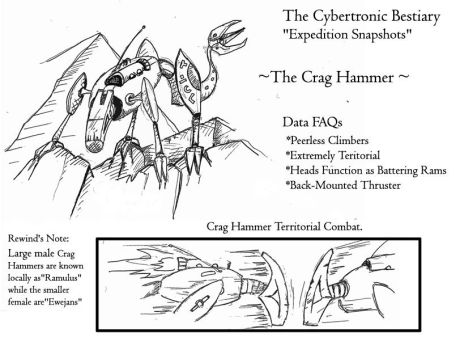 Early Crag Hammer concept for Page 15 by ZacWilliam
