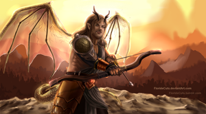 The Dragon Archer by FlorideCuts