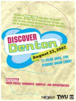 Discover Denton poster by WildeGeeks