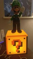 [P]: Luigi on a Question Block by Spongecat1