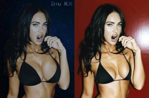Growing Megan Fox (BE Comparison) 2/6 by ZituKX
