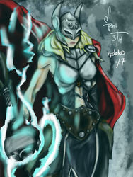 Mighty Thor by spontaneousOD