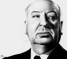 Alfred Hitchcock by Doctor-Pencil