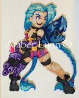 Jinx League of Legends Fusion Bead Design by Amber--Lynn