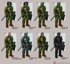 Shiver Armour Variants by DaveAllsop