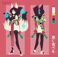 Azamuku - Character Reference - Clothed by Obakawaii