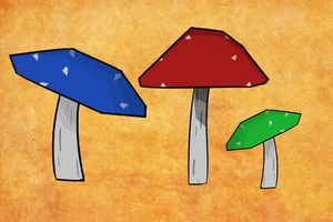 Mushrooms - A Style and Lightning Test by TwistedGale