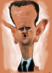 caricature of Syrian President Bashar Al-Assad by nelsonsantos