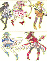 madoka sketches by naydeity