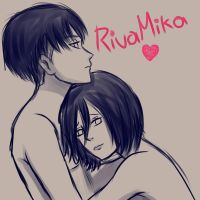 Sketch RivaillexMikasa #10 by Antifashion19