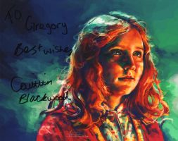 Caitlin Blackwood autograph by Power-and-Chaos