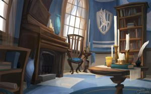 Ravenclaw Common Room by TofuSlaw