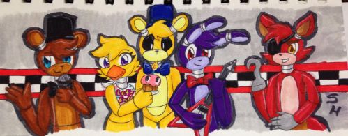 The gangs all here by SketchHappily
