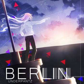 Berlin with the sky and text. by underpantz27