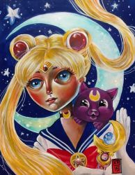 Sailor Moon and Luna by ckrickett