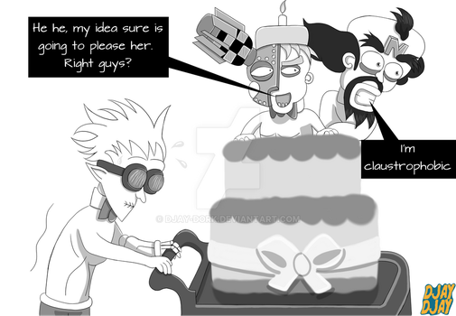 Three Hot Scientists and a Cake by Djay-Dork