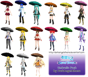 [100 Watchers Gift] Dreamy Theater Umbrella DL by DarkAngelAlhena