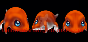 A little 3d creature by CalimonGraal