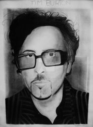 Tim Burton Portrait by Hnser