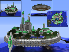 Minecraft - Flying City by Virenth