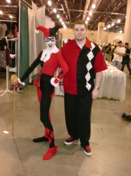 Myself and a Harley Quinn at Philly WW ComicCon 12 by HarlequinHenchman