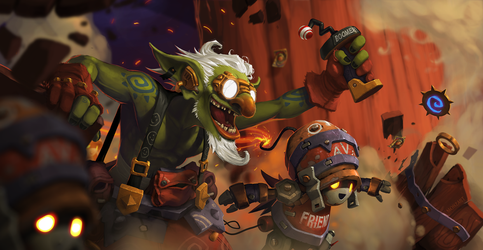 GvG: Goblin and Bot storm the Keeper's Inn! by mohzart