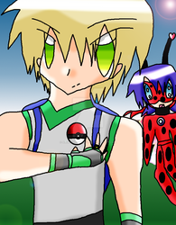 Pokemon Trainer Adrien by AnimeArtist154ever