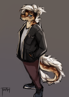 Furry python boy by WolFirry