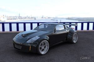 Nissan 350 Z Black Edition by Slimaq