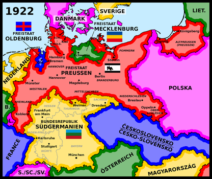 Map of Prussia and Sudgermania (1922) by matritum
