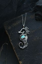 Opal seahorse by UrsulaJewelry