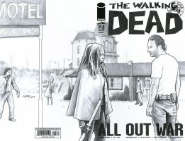 Sketch Cover: The Walking Dead by ByronWinton