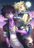 Dabi and Himiko Fanart (My Hero Academia) by Rebezza