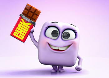 Zbrush Doodle: Day 1332 - Choklit Bar by UnexpectedToy
