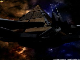 Anubis Goa'uld Hatak Ship by Euderion