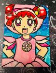 Ojamajo Doremi Watercolor ATC:2014 by Magical-Mama