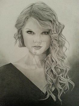 Taylor Swift Portrait by CroixArt