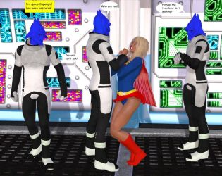 Supergirl captured by Aliens by cattle6