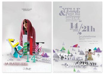 YELLE gig flyer by incogburo