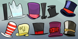 Top hats you might know by Lost-In-Dimensio-LID