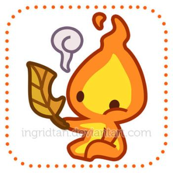 The Fire Sprite by IngridTan