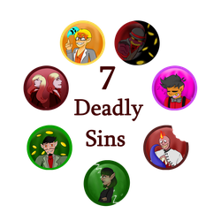 SSS Seven Deadly Sins w text by Yna-the-artist