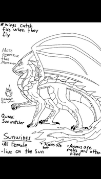 Sunwing wings of fire fanmade species part two by ThornxThunder